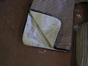 kavadi detail silk lining and trim